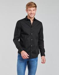 Kleidung Herren Langärmelige Hemden Emporio Armani 8N1C09 Schwarz