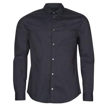 Kleidung Herren Langärmelige Hemden Emporio Armani 8N1C09 Marine