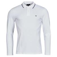 Kleidung Herren Langärmelige Polohemden Emporio Armani 8N1FB5 Weiss