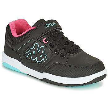 Schuhe Mädchen Sneaker Low Kappa KASH LOW EV Schwarz / Blau / Rose