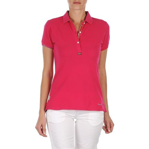 T-Shirts & Poloshirts Napapijri ELINDA Rose 350x350