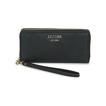 Taschen Damen Portemonnaie Guess VIKKY SLG LARGE ZIP AROUND Schwarz