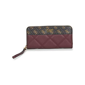 Taschen Damen Portemonnaie Guess KATEY SLG LARGE ZIP AROUND Burgunderrot