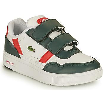 Schuhe Kinder Sneaker Low Lacoste T-CLIP 0121 2 SUI Weiss / Grün / Rot