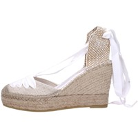 Schuhe Damen Leinen-Pantoletten mit gefloch Vidorreta 12985 Multicolore