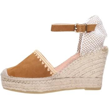 Schuhe Damen Leinen-Pantoletten mit gefloch Vidorreta 07112 Multicolore
