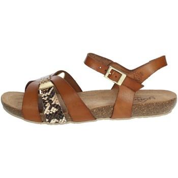 Schuhe Damen Sandalen / Sandaletten Yokono IBIZA-153 Braun Leder