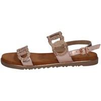 Schuhe Damen Sandalen / Sandaletten Marco Tozzi 2-28121/26 DUNKLE ROSA METALLISCH