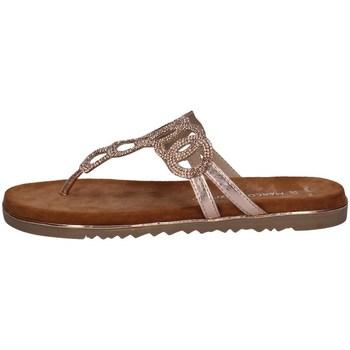 Schuhe Damen Sandalen / Sandaletten Marco Tozzi 2-27107-26 DUNKLE ROSA METALLISCH