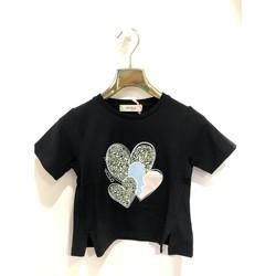 Kleidung Mädchen T-Shirts Vicolo 3146M0366 T-shirt Kind SCHWARZ SCHWARZ