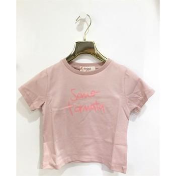 Kleidung Mädchen T-Shirts Vicolo 3146M0384 T-shirt Kind PULVER ROSA PULVER ROSA