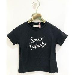 Kleidung Mädchen T-Shirts Vicolo 3146M0384 T-shirt Kind SCHWARZ SCHWARZ