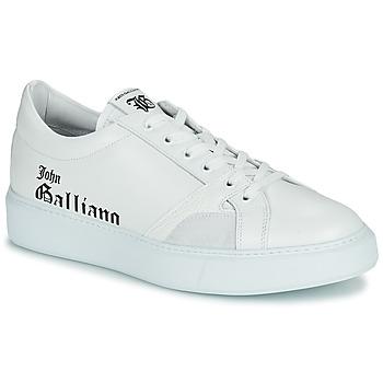 Schuhe Herren Sneaker Low John Galliano MISSISSIPPI Weiss