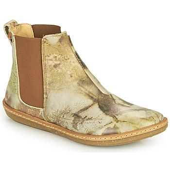 Schuhe Damen Boots El Naturalista CORAL Grau