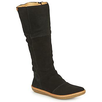 Schuhe Damen Klassische Stiefel El Naturalista CORAL Schwarz