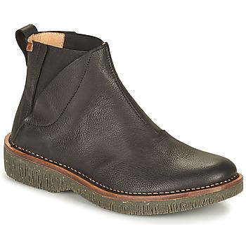 Schuhe Damen Boots El Naturalista VOLCANO Schwarz