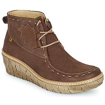 Schuhe Damen Low Boots El Naturalista MYTH YGGDRASIL Braun