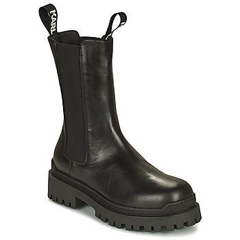 Schuhe Damen Boots Karl Lagerfeld BIKER II LONG GORE BOOT Schwarz