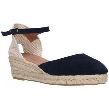 Schuhe Damen Leinen-Pantoletten mit gefloch Carmen Garcia 52S3 SER MARINO Mujer Azul marino bleu