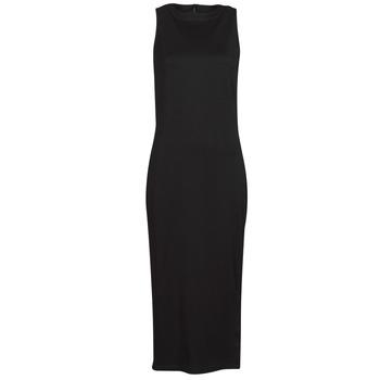 Kleidung Damen Kurze Kleider Karl Lagerfeld KITTED WRAP DRESS Schwarz