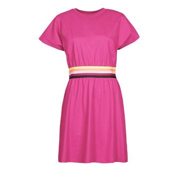 Kleidung Damen Kurze Kleider Karl Lagerfeld LOGO TAPE JERSEY DRESS Rose
