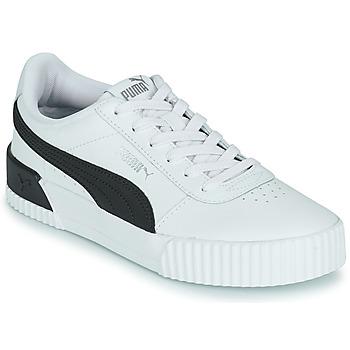 Schuhe Damen Sneaker Low Puma CARINA Weiss / Schwarz