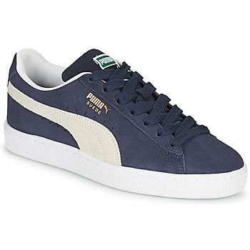 Schuhe Kinder Sneaker Low Puma SUEDE JR Blau / Weiss