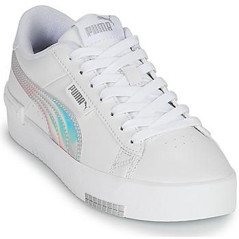 Schuhe Mädchen Sneaker Low Puma JADA RAINBOW JR Weiss / Multicolor