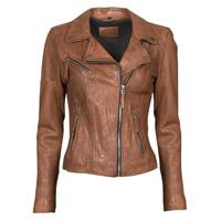 Kleidung Damen Lederjacken / Kunstlederjacken Oakwood CLIPS 6 Braun