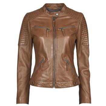 Kleidung Damen Lederjacken / Kunstlederjacken Oakwood HILLS6 Cognac