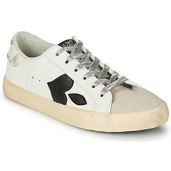 Schuhe Damen Sneaker Low Le Temps des Cerises AUSTIN Weiss / Schwarz
