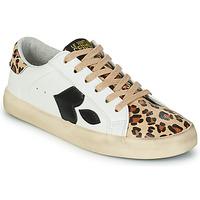 Schuhe Damen Sneaker Low Le Temps des Cerises AUSTIN Weiss / Leopard