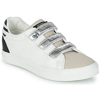 Schuhe Damen Sneaker Low Le Temps des Cerises VIC Weiss / Silbern