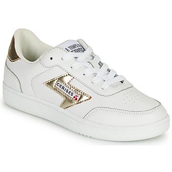 Schuhe Damen Sneaker Low Le Temps des Cerises FLASH Weiss / Gold
