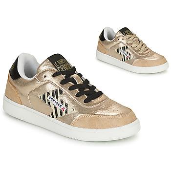 Schuhe Damen Sneaker Low Le Temps des Cerises FLASH Gold