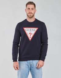Kleidung Herren Sweatshirts Guess AUDLEY CN FLEECE Marine