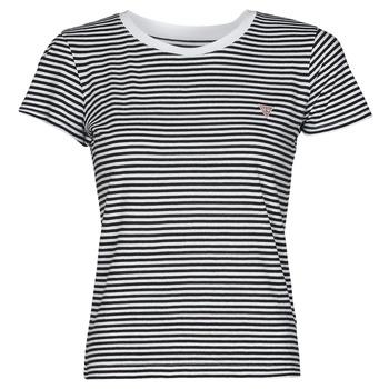 Kleidung Damen T-Shirts Guess ES SS GUESS LOGO BABY TEE Schwarz / Weiss