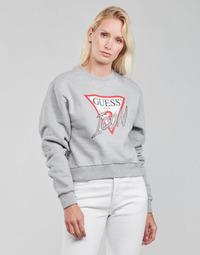 Kleidung Damen Sweatshirts Guess ICON FLEECE Grau