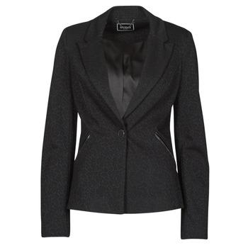 Kleidung Damen Jacken / Blazers Guess SPERANZA BLAZER Schwarz