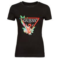 Kleidung Damen T-Shirts Guess SS CN NORA TEE Schwarz