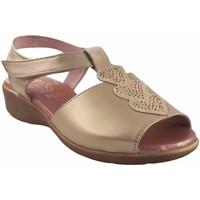 Schuhe Damen Sandalen / Sandaletten Duendy Zarte Füße Dame  318 Platin Silbern