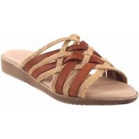 Schuhe Damen Pantoffel Duendy Lady  3246 Leder Braun