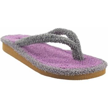 Schuhe Damen Zehensandalen Berevere Geh nach Hause Lady  v 9301 grau Grau