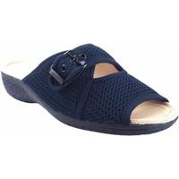 Schuhe Damen Sandalen / Sandaletten Berevere Zarte Füße Dame  v 6075 blau Blau