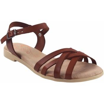 Schuhe Damen Sandalen / Sandaletten Duendy Lady  3265 Leder Braun