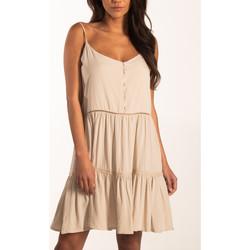 Kleidung Damen Kurze Kleider Beachlife Sommerkleid mit dünnen Trägern Beachwear Gelb