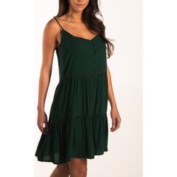 Kleidung Damen Kurze Kleider Beachlife Sommerkleid mit dünnen Trägern Beachwear Dunkelgrün