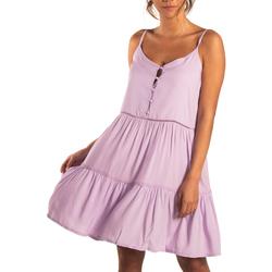 Kleidung Damen Kurze Kleider Beachlife Sommerkleid mit dünnen Trägern Lavendula Violett/orange