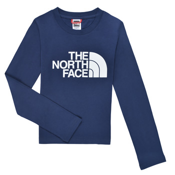 Kleidung Jungen Langarmshirts The North Face EASY TEE LS Marine