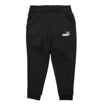 Kleidung Jungen Jogginghosen Puma ESSENTIAL SLIM PANT Schwarz